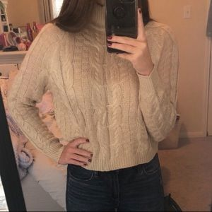 3 for $30 ❤️ Gray cable knit sweater ZAFUL